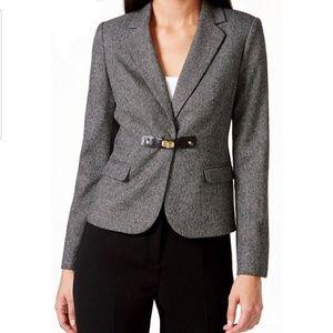 Calvin Klein charcoal grey buckle blazer jacket